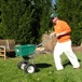 Application of granular fertilizer and lime eliminates waste and overspray